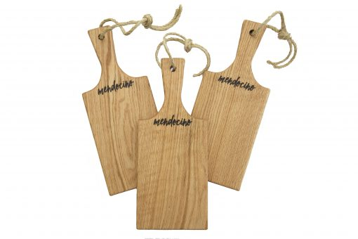 Handmade in Mendocino - Mendocino Stamped Charcuterie Cheese Paddle Board - Small Red Oak Hardwood - Three Combo Deal - Astoria Stamp - Astoria Home Decor and Gift Shop in Downtown Mendocino