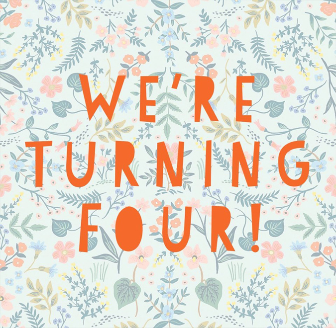 Hey friends!!  Come by this Second Saturday from 4-7 as we celebrate four years in business!!  Stop by for a sale and some bubbly!!!  More details to follow!!  Pratibeauti will also be there selling her lovely Sothys Paris skincare and makeup.