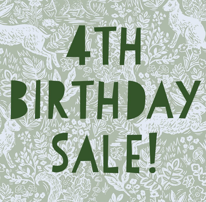 Join us this after from 4-7 as we celebrate our 4th birthday!!! The entire store is 15% off and clearance is half off!  We'll have some bubbly  and Pratibeauti will have a Sothy's makeup and skincare at 25% Off!!