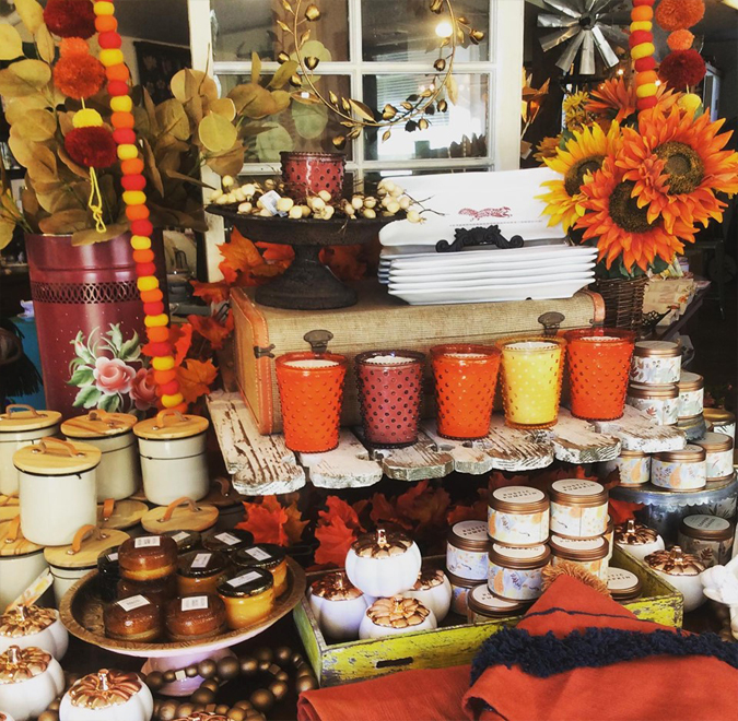Pumpkin candles are heeeeeere!  We also have other lovely fall scents to spice up your home!