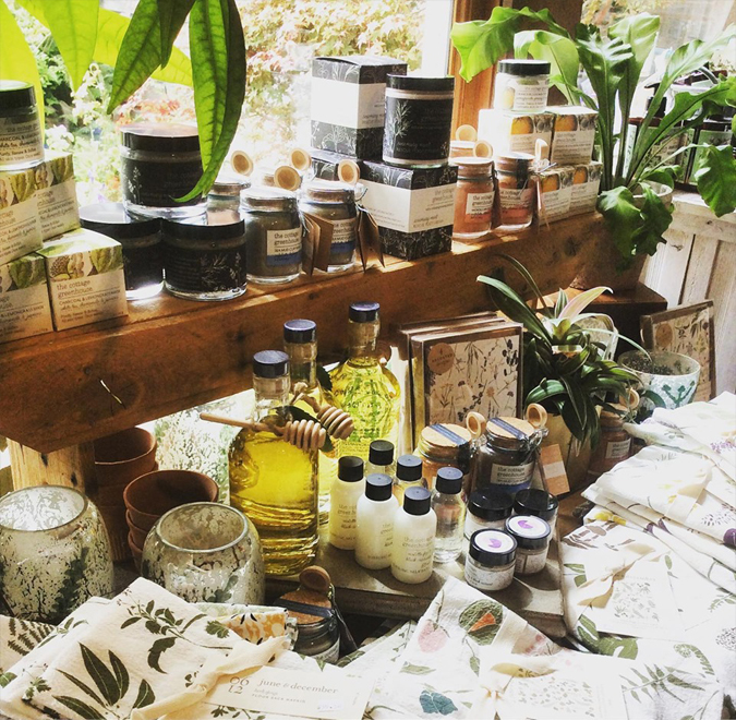 Lovely new products in the store  including salt scrubs, face masks, foot care,  and honey bath oil!  Thanks @delphine_davidson for doing this display!!! We love it!!