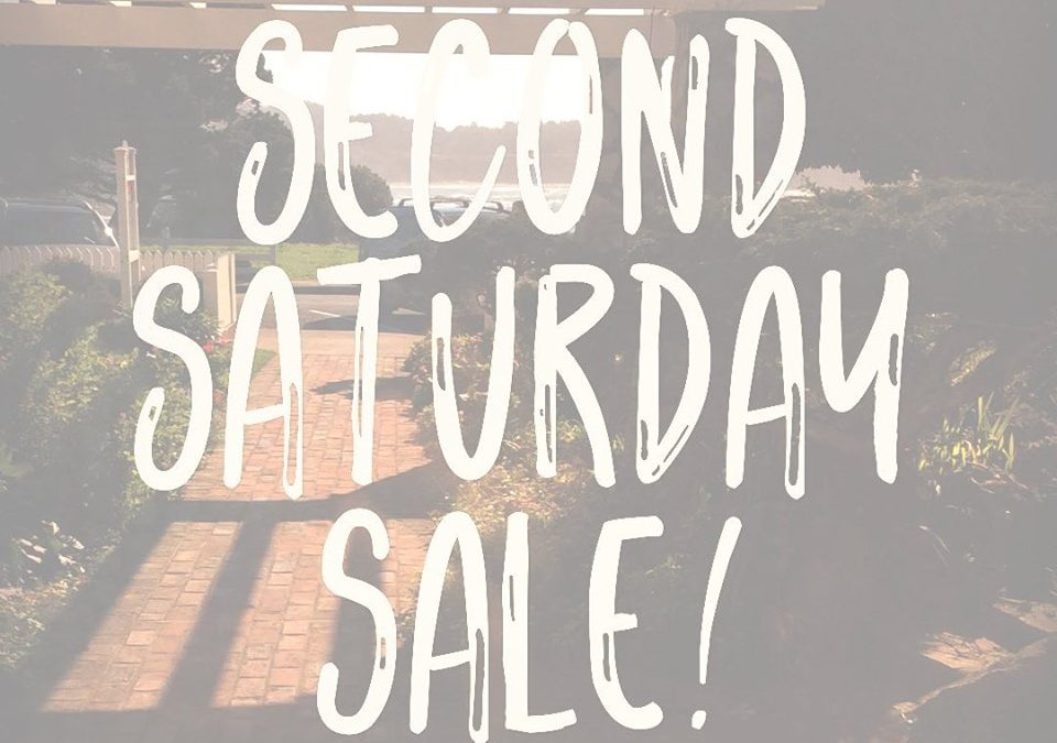 Hey y'all!  Tonight is Second Saturday  and we'll have some great deals out on our patio!  Clearance items are half off!!!
