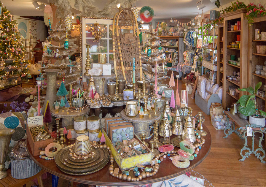 Check out our photos of the shop!  We're in full Christmas / Holiday swing!  Our location since January:  45050 Main Street in Mendocino CA!