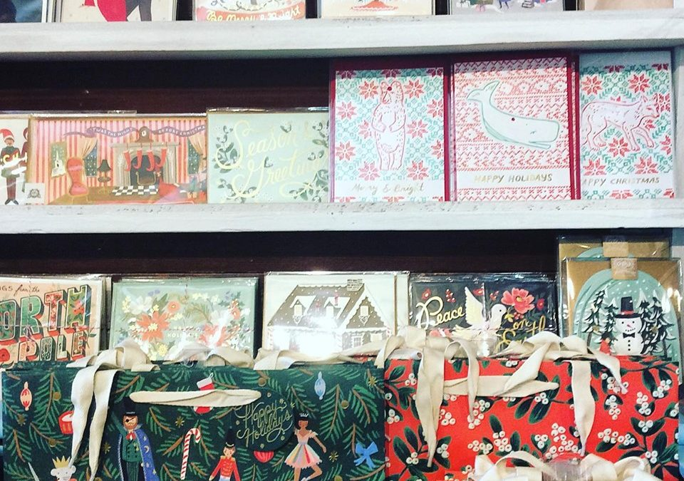 So many lovely holiday cards  and gift bags from our favorite stationery lines 😍