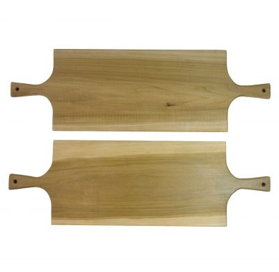 Extra Large Poplar Double Handled Charcuterie Board Serving Set Double Combo Sale Deal - USA MADE IN USA- Mendocino Gift Ideas