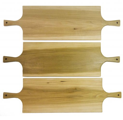 Extra Large Poplar Double Handled Charcuterie Board Serving Set Triple Combo Sale Deal - USA MADE IN USA- Mendocino Gift Ideas