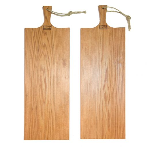 Extra Large Red Oak Charcuterie Board Set Bread Board Serving Board Handmade in Mendocino California Made in USA Made Double Sale Deal x2 1st pic