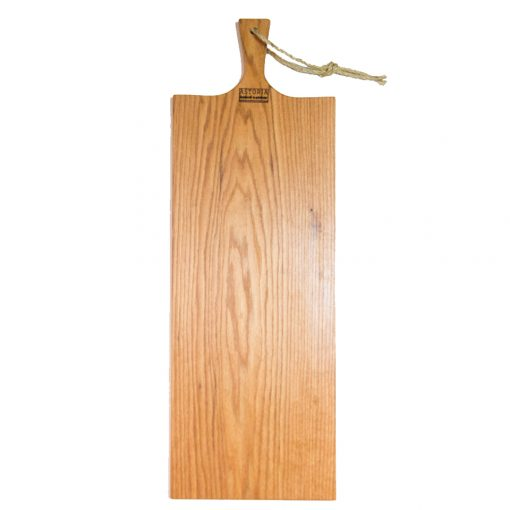 Extra Large Red Oak Charcuterie Board Bread Board Serving Board Handmade in Mendocino California USA Handle with Hole and Twine Strap 1st pic