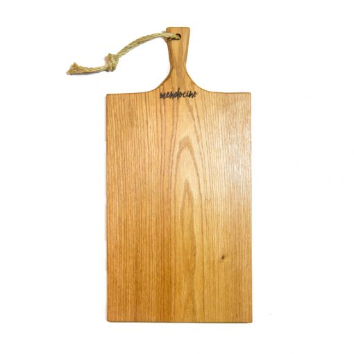 Hand Made in Mendocino Village Large Mendocino Stamped Red Oak Cheese Board Charcuterie Board Cutting Board Gift Shopping Shop Single - Face Pic - Solid One Piece of Wood