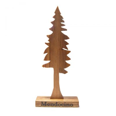 Handmade Handcrafted Made in Mendocino Made in USA - Mendo Decor - Mendocino Brand Close-up - Decor Decorative Redwood Tree 1st pic