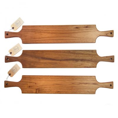 Handmade in Mendocino Village Double Handled Mahogany Charcuterie Board Serving Board Set USA MADE Handcrafted Gift Shopping Mendocino Triple Deal Sale