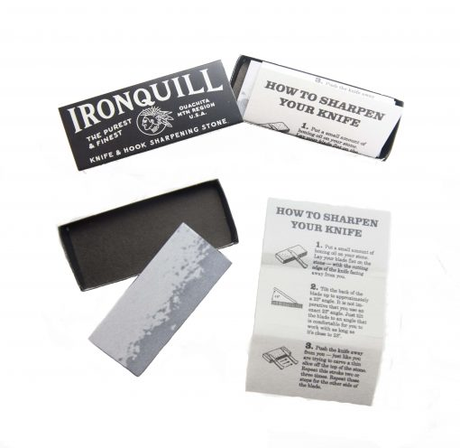 Ironquill Knife and Hook Sharpening Stone Made in Arkansas USA Stone Quarried in Ouachita Mountains Gift Shopping - Knife Care - Knife Sharpening Opened