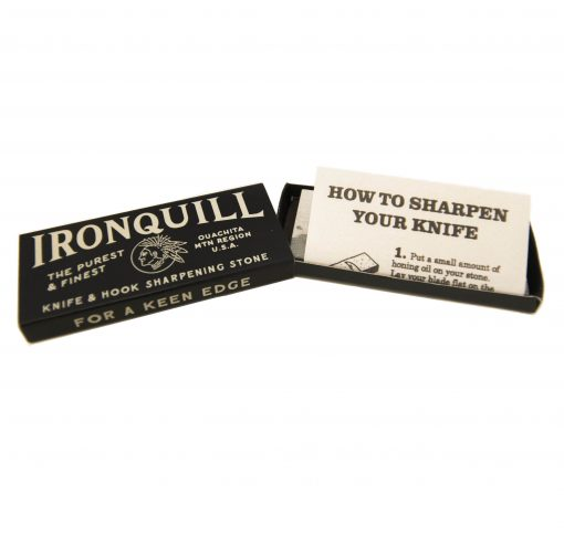 Ironquill Knife and Hook Sharpening Stone Kit Made in Arkansas USA Stone Quarried in Ouachita Mountains Gift Shopping - Knife Care - Knife Sharpening Stone Kit