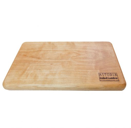 Mendocino Birch Cheese Board - Handmade Locally In Mendocino - Gift Shop in Mendocino Village - Face Picture - Solid One Piece