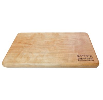 Mendocino Birch Cheese Board - Handmade Locally In Mendocino - Gift Shop in Mendocino Village - Top Face - Solid One Piece
