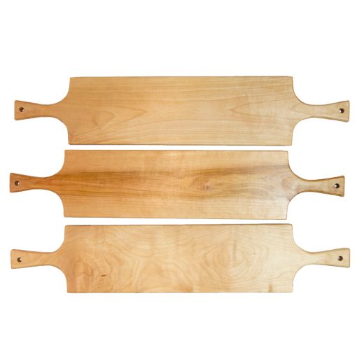 Mendocino Gift Handmade Gifts Mendocino Charcuterie Board Set Double Handled Serving Board Birch Wood Double Sale Deal Three Boards Made in USA Made 1st Picture