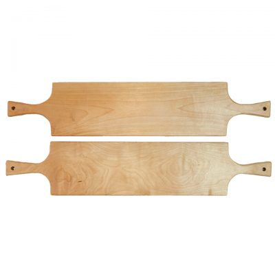 Mendocino Gift Handmade Gifts Mendocino Charcuterie Board Set Double Handled Serving Board Birch Wood Double Sale Deal Two Boards Made in USA Made 1st Picture