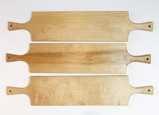 Mendocino Handmade Gift Mendocino Charcuterie Board Set Double Handled Serving Board Birch Wood Double Sale Deal Three Boards Made in USA Made