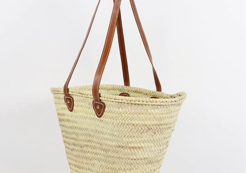 Favorite Thing #2:  this French-style market basket from Morocco.  People have said they use all the time.   It's the perfect size for your lunch and water bottle  and love how it doesn't tip over and fits over your shoulder.  Use it as a shopping basket and bag  — LOVE IT!  We have several sizes and handle colors/lengths in the store.
