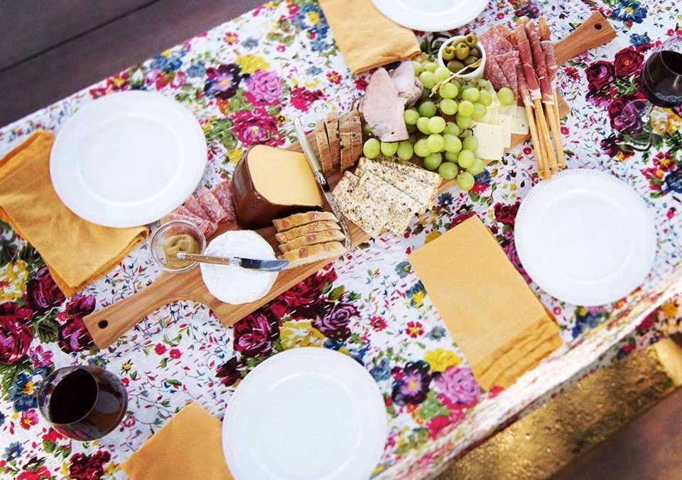 Warm winter days call for wine tasting and fabulous spreads!  Our signature double-handled Charcuterie Boards  fit right down the center of your table!  Double Handled Charcuterie Boards'  button below in this post.