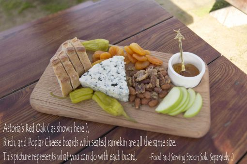 Astoria Home Decor and Gift Shop at 45050 Main Street Mendocino Village - Handcrafted - Handmade Locally - MADE IN USA Charcuterie Board with Seated Ramekin