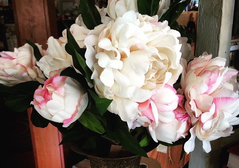 Check Out Our Big Faux Peonies Flower Decor!