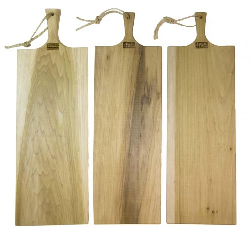 Extra Large Poplar Single Handled Charcuterie Board - Double Handle Triple Deal Sale - USA MADE IN USA - Handmade Handcrafted in Mendocino Village