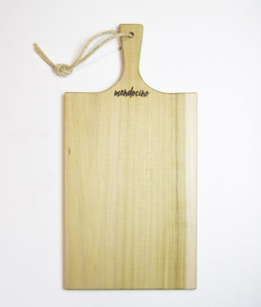 Large Poplar Charcuterie Board - Mendocino Stamp - Locally Handcrafted in Mendocino Village - USA MADE IN USA