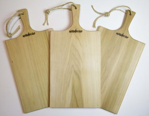 Large Poplar Charcuterie Board - Mendocino Stamp - Locally Handcrafted in Mendocino Village - USA MADE IN USA - Triple Sale Deal 3 Set