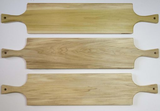 Large Poplar Hardwood Double Handled Charcuterie Serving Board Set - Triple Deal Sale - USA MADE IN USA - Locally made in Mendocino Village Gifts 3