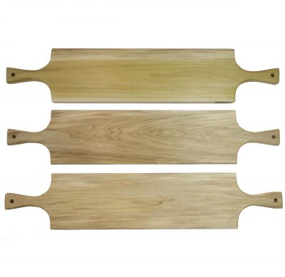 Large Poplar Hardwood Double Handled Charcuterie Serving Board Set - Triple Sale Deal - USA MADE IN USA - Locally made in Mendocino Village 3