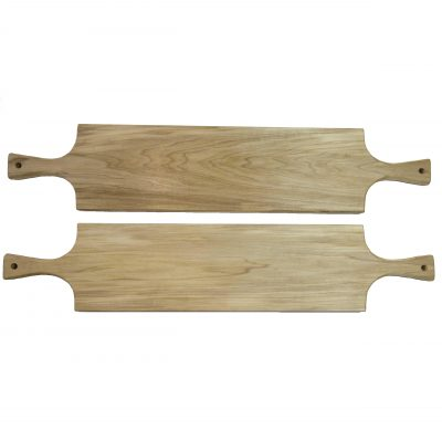 Large Poplar Hardwood Double Handled Charcuterie Serving Board Set - Two Sale Deal - USA MADE IN USA - Locally made in Mendocino Village 2