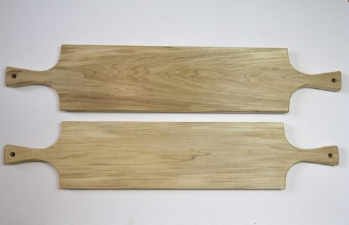 Large Poplar Hardwood Double Handled Charcuterie Serving Board Set - Two Sale Deal - USA MADE IN USA - Locally made in Mendocino Village