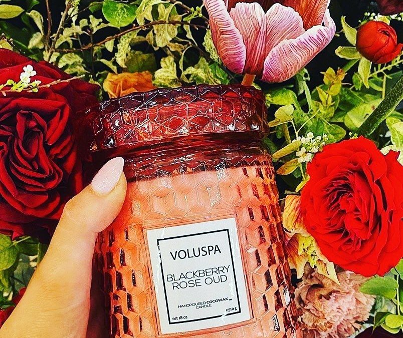 New scents and sizes from Voluspa Candles ARE HEEEREEE! 🌹 🌹 🌹