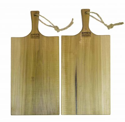 Poplar Large Charcuterie Board - USA MADE IN USA - Double Deal Sale - Handcrafted Handmade in Mendocino Village - Astoria Brand Stamp - Cheese Board Bread Board Cutting Board x2