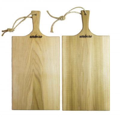 Poplar Large Charcuterie Board - USA MADE IN USA - Double Deal Sale - Handcrafted Handmade in Mendocino Village - Mendocino Stamp - Cheese Board Bread Board x2