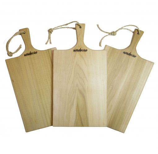 Poplar Large Charcuterie Board - USA MADE IN USA - Triple Deal Sale - Handcrafted Handmade in Mendocino Village - Astoria Brand Stamp - Cheese Board Bread Board x3 Set