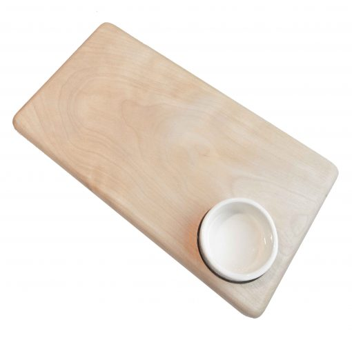 USA Made in USA Birch Cheese Board with Ceramic Ramekin Handmade Handcrafted in Mendocino Village Gift Shopping Gifts Product Image