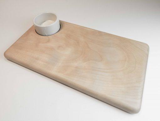 USA Made in USA Birch Cheese Board with Ceramic Ramekin Handmade Handcrafted in Mendocino Village Gift Shopping Local
