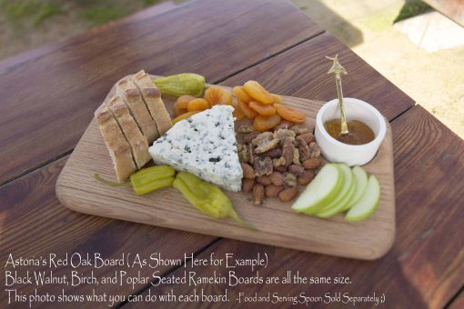 Astoria Home Decor and Gift Shop at 45050 Main Street Mendocino Village - Handcrafted - Handmade Locally - USA Made Charcuterie Board with Seated Ramekin 1