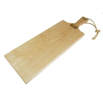 Birch Hardwood Medium Long Charcuterie Board Cheese Board Hand Crafted in Mendocino Village - Wood Paddle Cutting Board Jute Twine Handle - Handmade