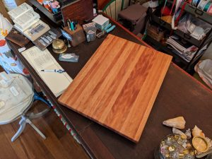 Custom Made Large Birch Edge Grain Cutting Board - Handcrafted in Mendocino Village - USA MADE in USA