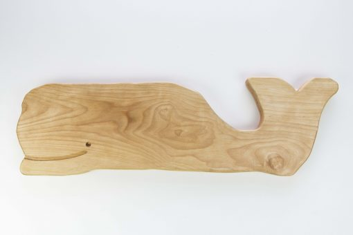 Regular Size Whale Shaped Birch Charcuterie Board Platter Gift Shopping - Whale Cheese Board - Sperm Whale Board - USA MADE IN USA - Handcrafted Mendocino CA