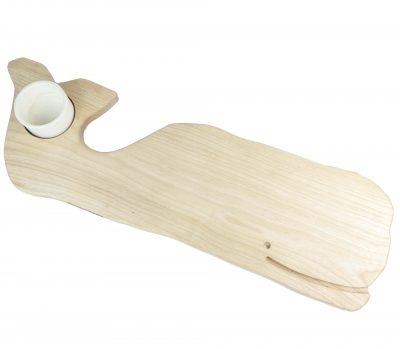 Solid Birch Whale Shaped Charcuterie Board Platter With Seated Ramekin - Gift Shopping - Whale Cheese Board - USA MADE IN USA - Handcrafted in Mendocino