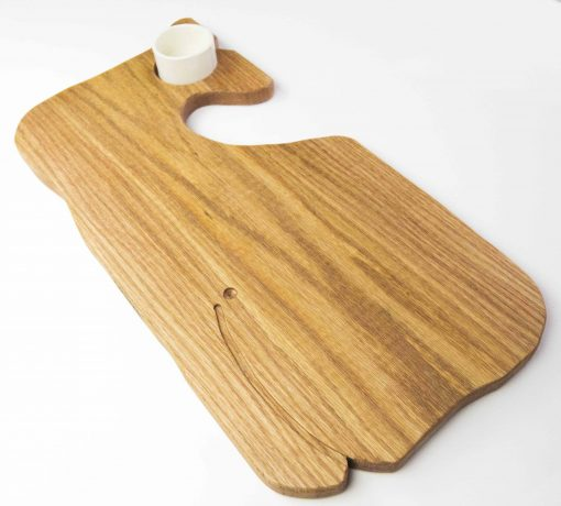 Whale Shaped Charcuterie Board Platter with Seated Ramekin - Gift Shopping - Whale Cheese Board - Sperm Whale Board - USA MADE IN USA Handcrafted Mendocino CA