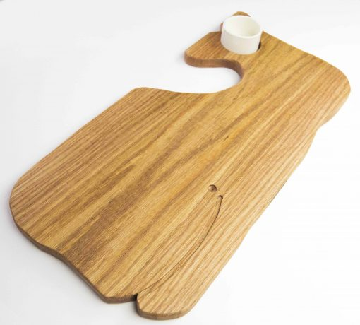 Whale Shaped Charcuterie Board Platter with Seated Ramekin - Gift Shopping - Whale Cheese Board - Sperm Whale Board - USA MADE IN USA - Handcrafted Mendocino CA