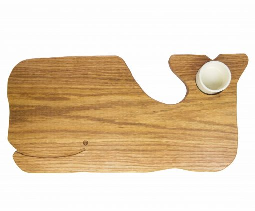 Whale Shaped Charcuterie Board Platter with Seated Ramekin - Gift Shopping - Whale Cheese Board - Sperm Whale Board - USA MADE IN USA - Handcrafted Mendocino California