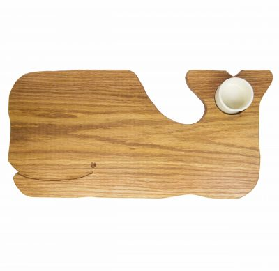 Whale Shaped Charcuterie Board Platter with Seated Ramekin - Gift Shopping - Whale Cheese Board - Sperm Whale Board - USA MADE IN USA - Handcrafted Mendocino pi