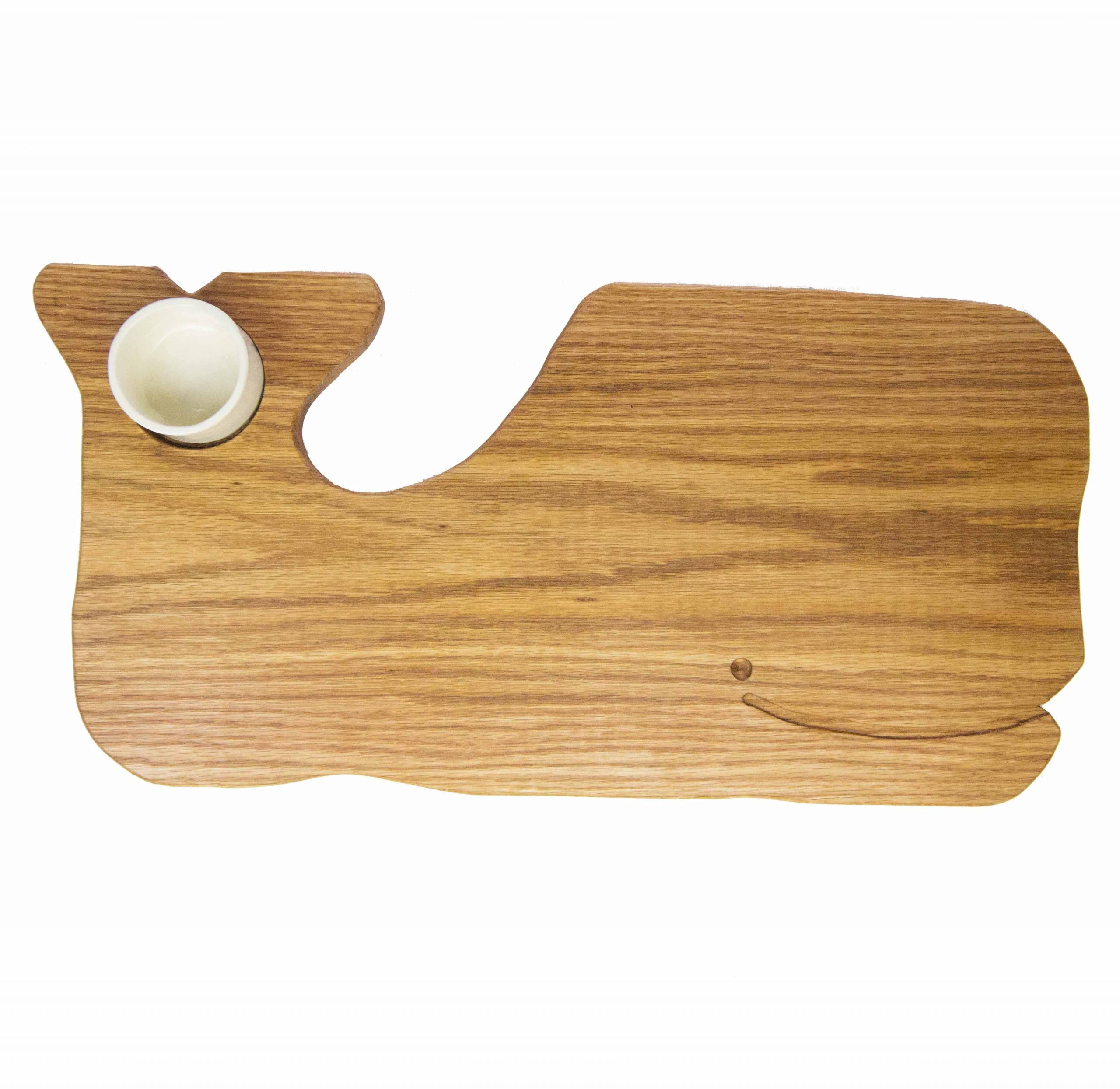 Whale Shaped Charcuterie Board Platter with Seated Ramekin - Gift Shopping - Whale Cheese Board - Sperm Whale Board - USA MADE IN USA Handcrafted Mendocino