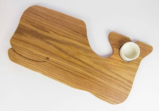 Whale Shaped Charcuterie Board Platter with Seated Ramekin - Whale Cheese Board - Sperm Whale Board - USA MADE IN USA - Handcrafted Mendocino CA Gift Shopping